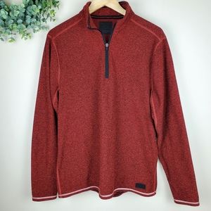 Abercrombie & Fitch Red 1/4 Zip Pullover Jacket